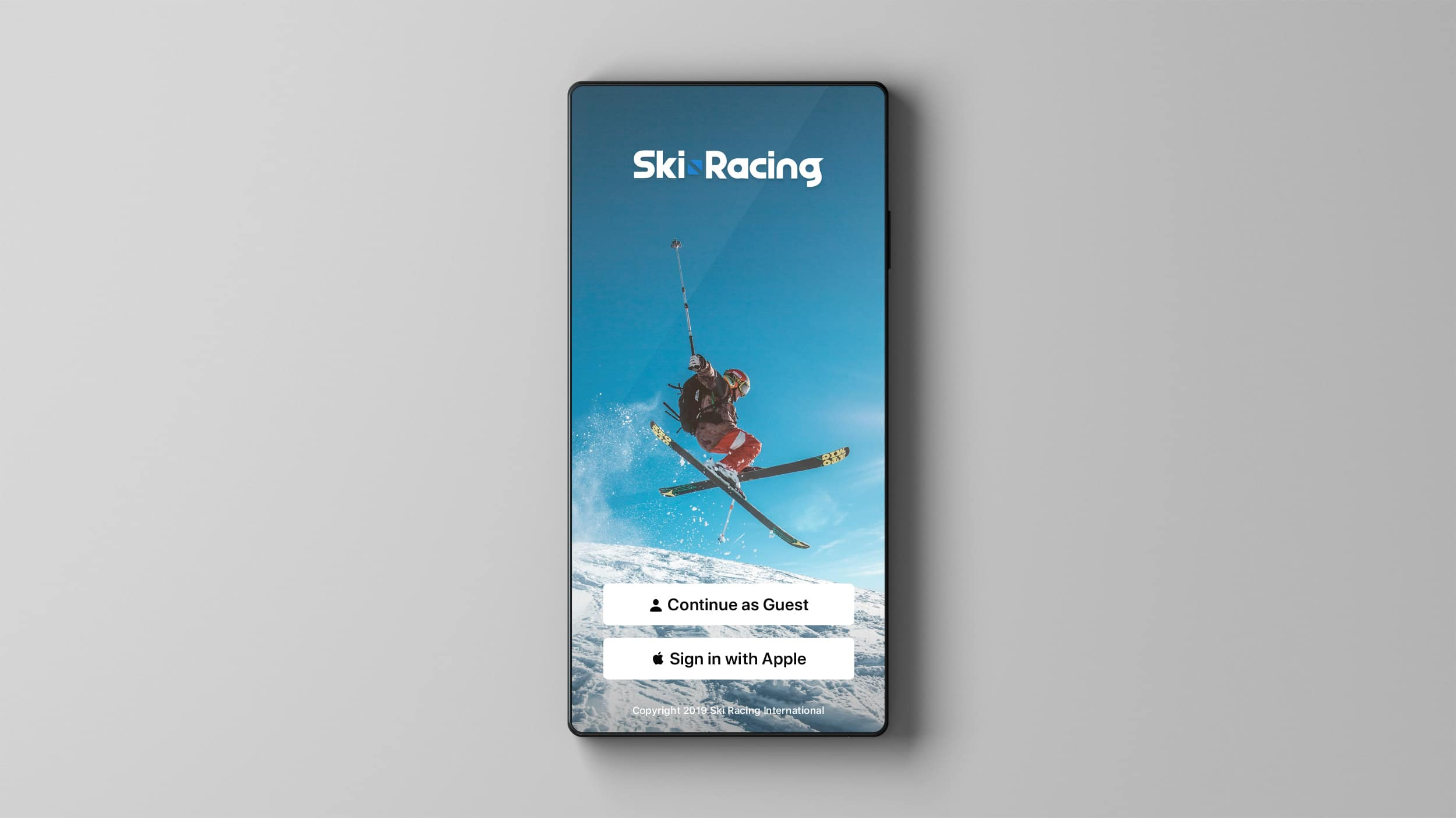 Ski Racing Splash Screen Prototype